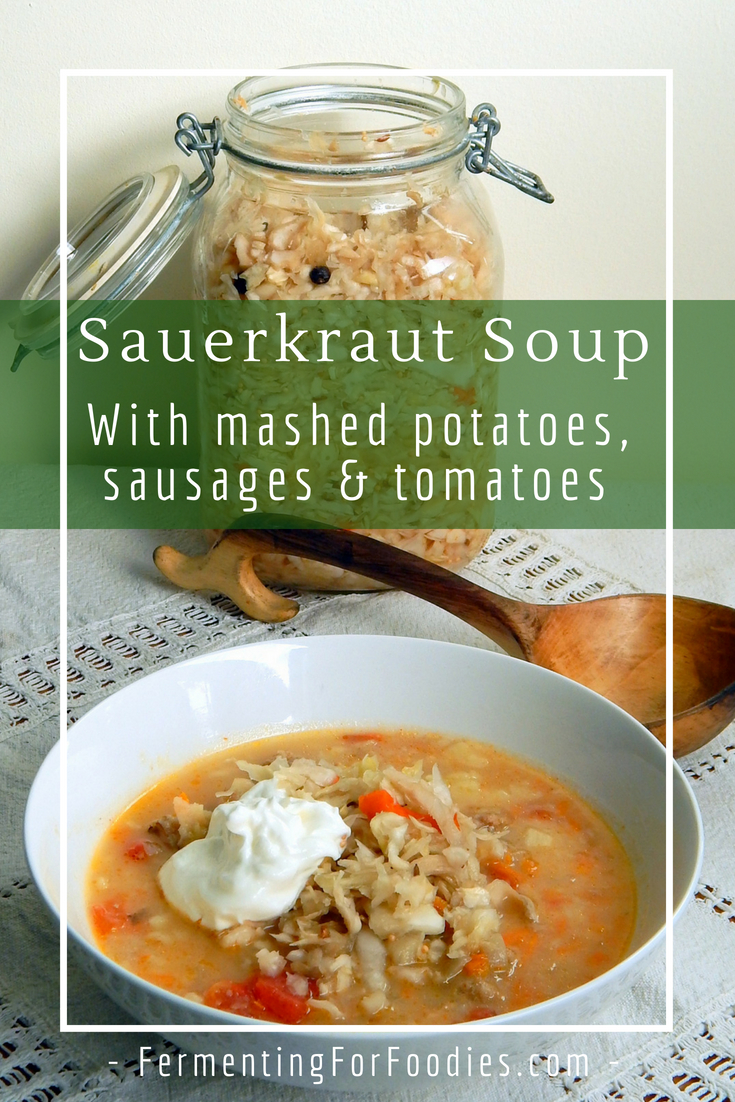 Sauerkraut Soup - A probiotic winter meal