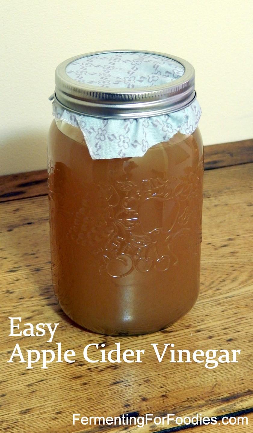 Apple Cider Vinegar made from juice.