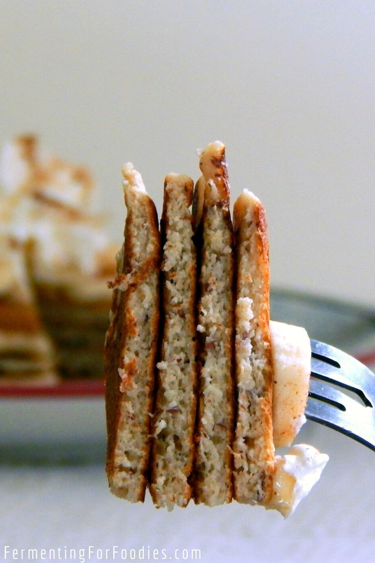 Simple milk kefir pancakes with an option for overnight fermentation