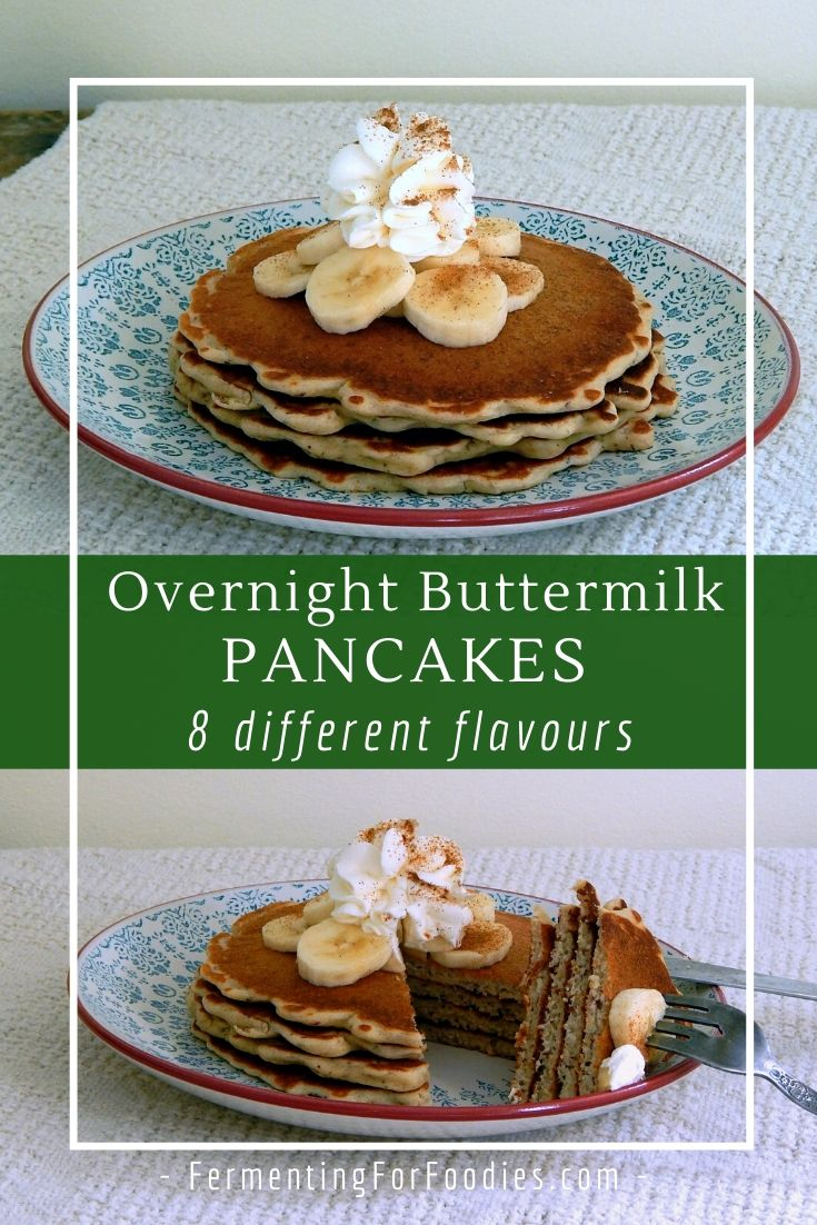 How to make buttermilk pancakes with yogurt instead