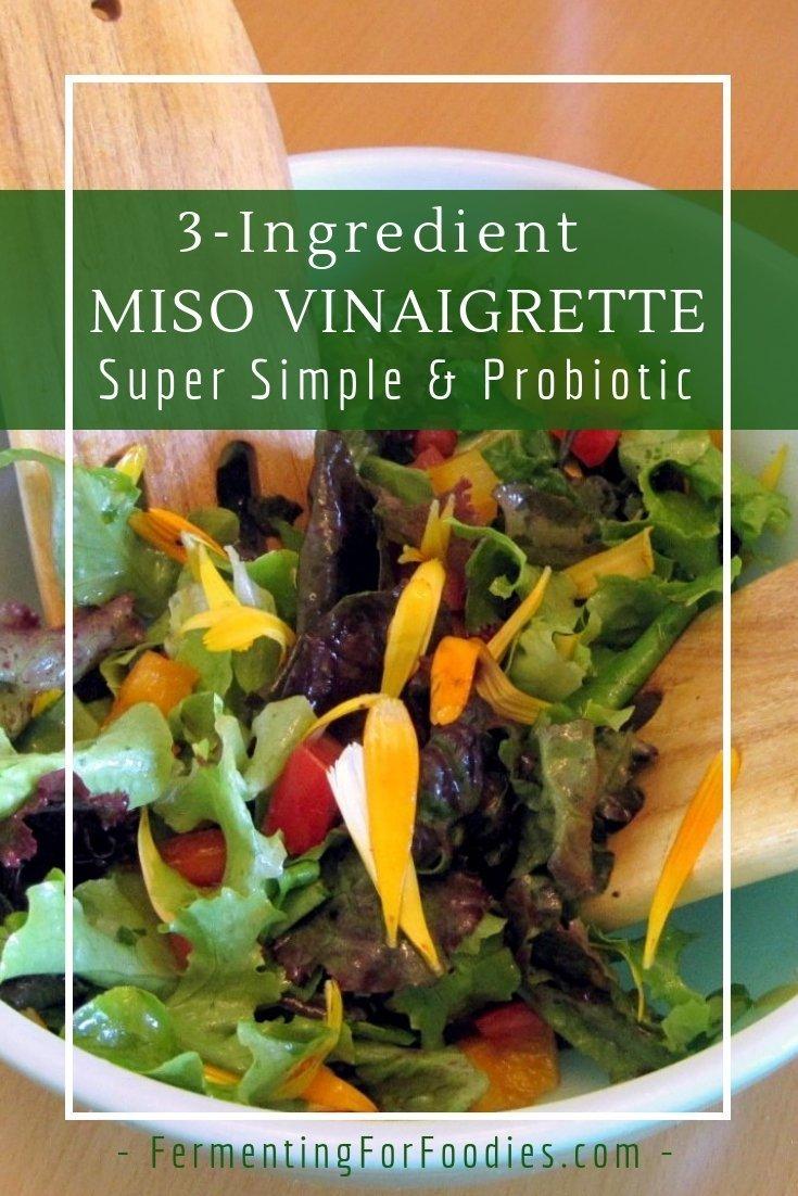 Simple miso vinaigrette for an Asian or European salad