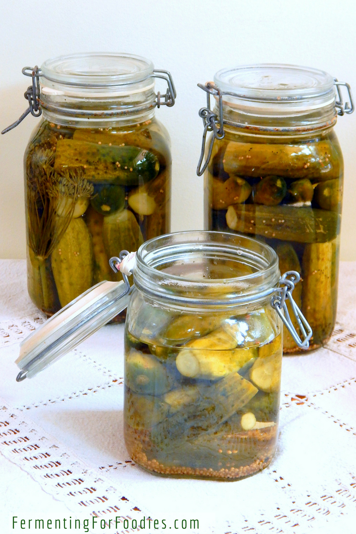 Traditional fermented pickles - easy, delicious and probiotic