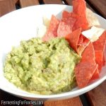 Fermented guacamole - probiotic, gluten free and vegan