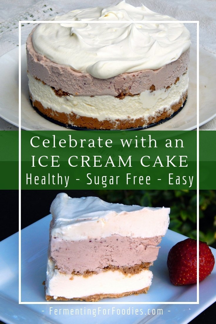 This healthy ice cream cake is a diet friendly treat.