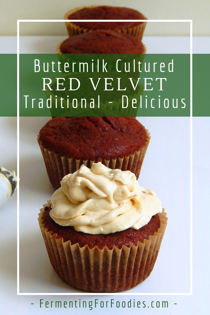 Buttermilk red velvet cupcakes with marmalade kefir cheese frosting