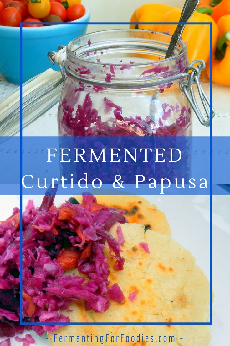 Fermented Curtido for tacos, papusas. From El Salvador
