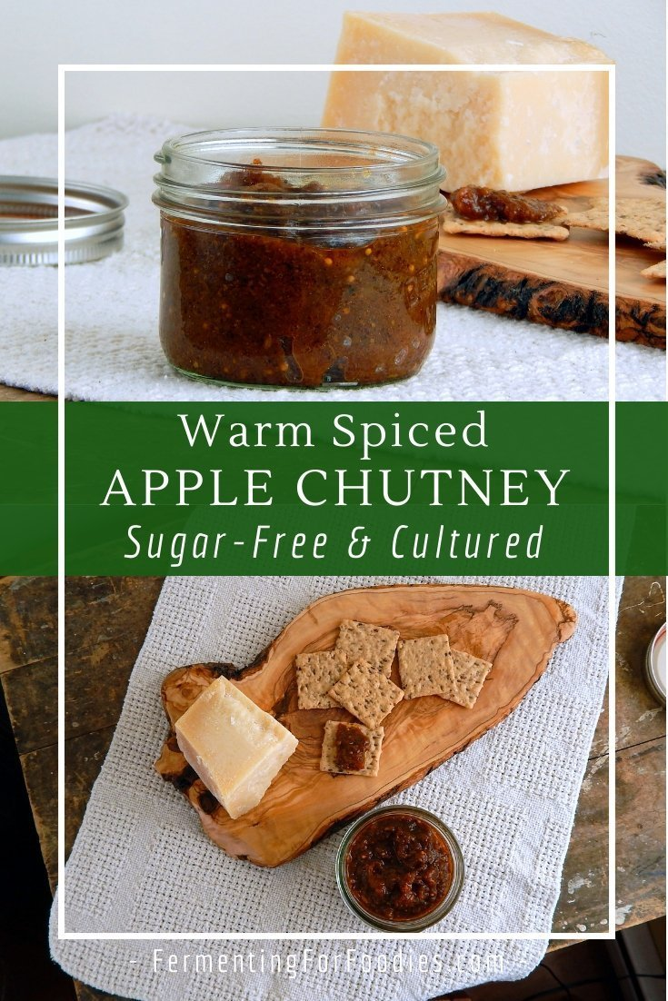 Healthy apple chutney is perfect with cheese, sandwiches, samosas or pakoras