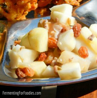 Fresh and Fermented Apple Raisin and Walnut Chutney