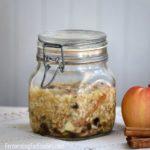 Simple fermented apple raisin walnut spread. A healthy alternative to jam