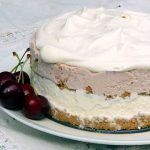 A healthy ice cream cake is gluten free, sugar free, probiotic, keto, vegan