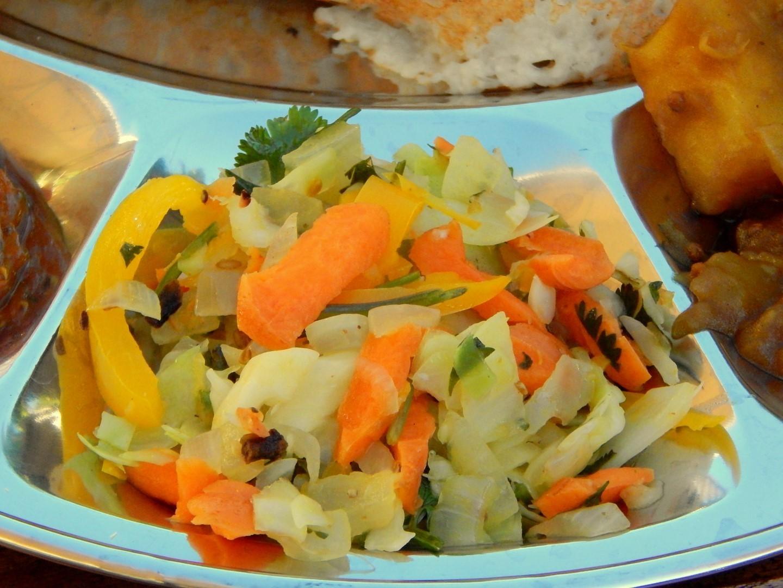 Indian Sauerkraut on a plate.