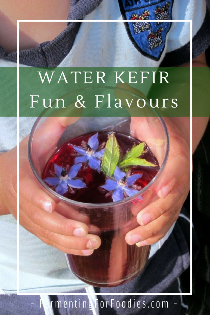 How to flavour water kefir in the first and second ferments