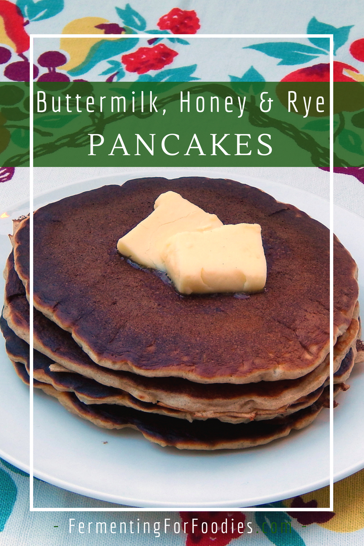 Pre-fermented rye pancakes - A traditional recipe with buttermilk and honey