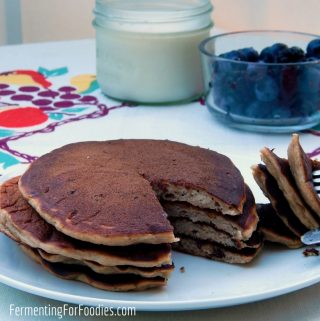 Honey, Rye and Buttermilk Pancakes - For a wholesome breakfast