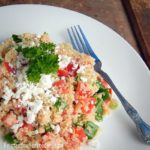 Salad for dinner with this simple Mediterranean quinoa salad