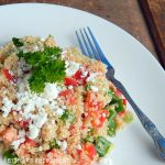 Mediterranean Quinoa Salad -with feta, olives, tomatoes