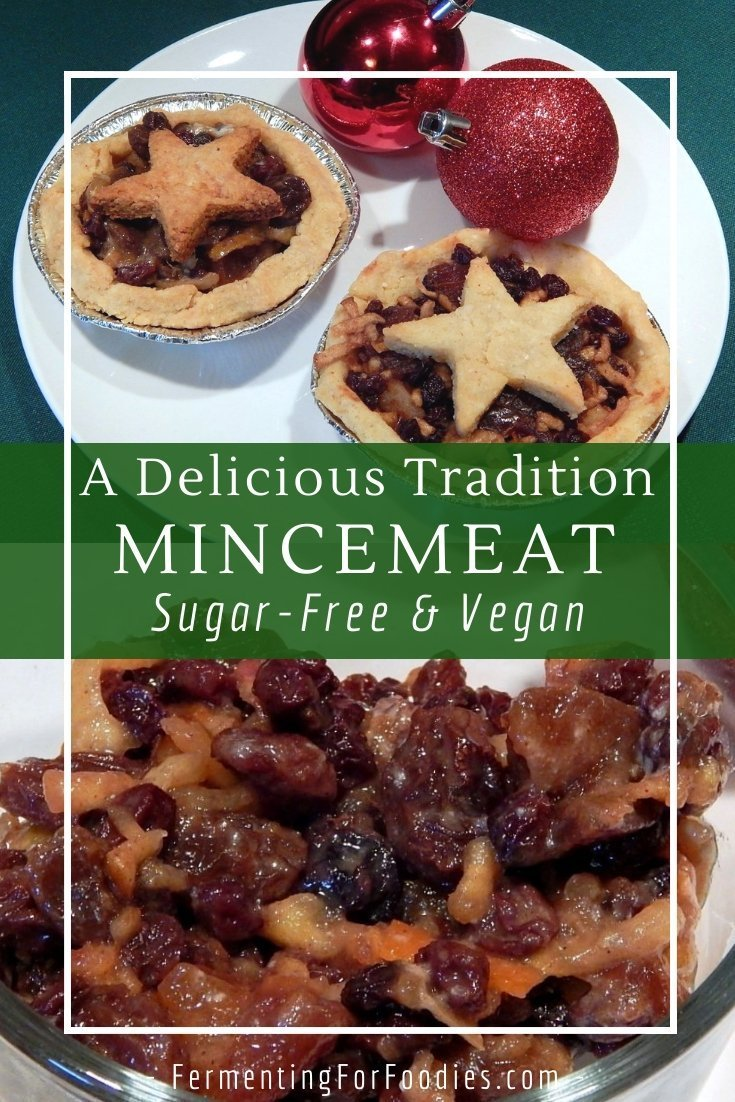 Homemade mincemeat filling is fermented for a simple, no-cook recipe