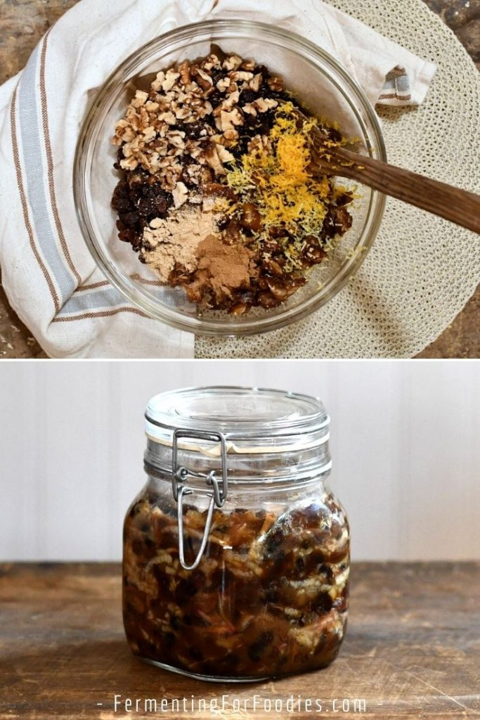 Healthy mincemeat, vegan and no sugar.