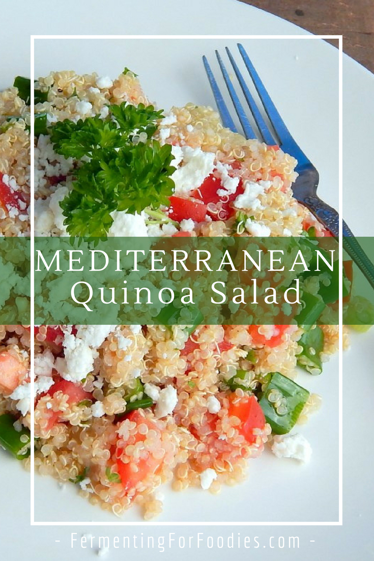 Gluten free tabouleh with quiona and feta