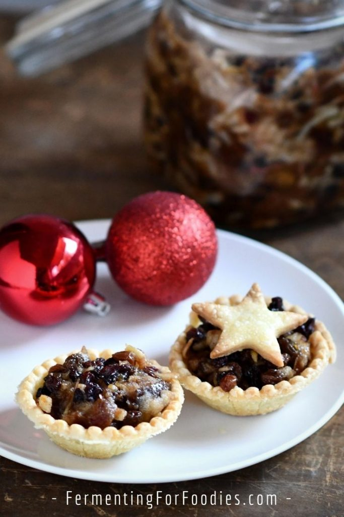 How to make fermented mincemeat with kombucha, ginger bug or cider vinegar