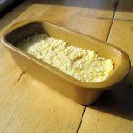 Millet polenta in a loaf pan