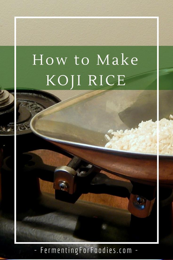 Homemade koji rice for miso, sake, amasake, rice vinegar, soy sauce and mirin.