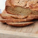 Recipe for Gluten free bread with 4 different flavour options, cheese, onion, raisin or seedy.