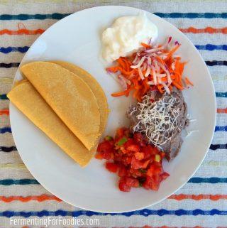 Fermented corn tortillas - easy, traditional, delicious