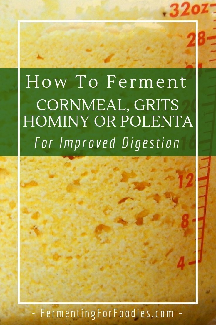 Fermented cornmeal improves flavour and absorption of this hard to digest grain