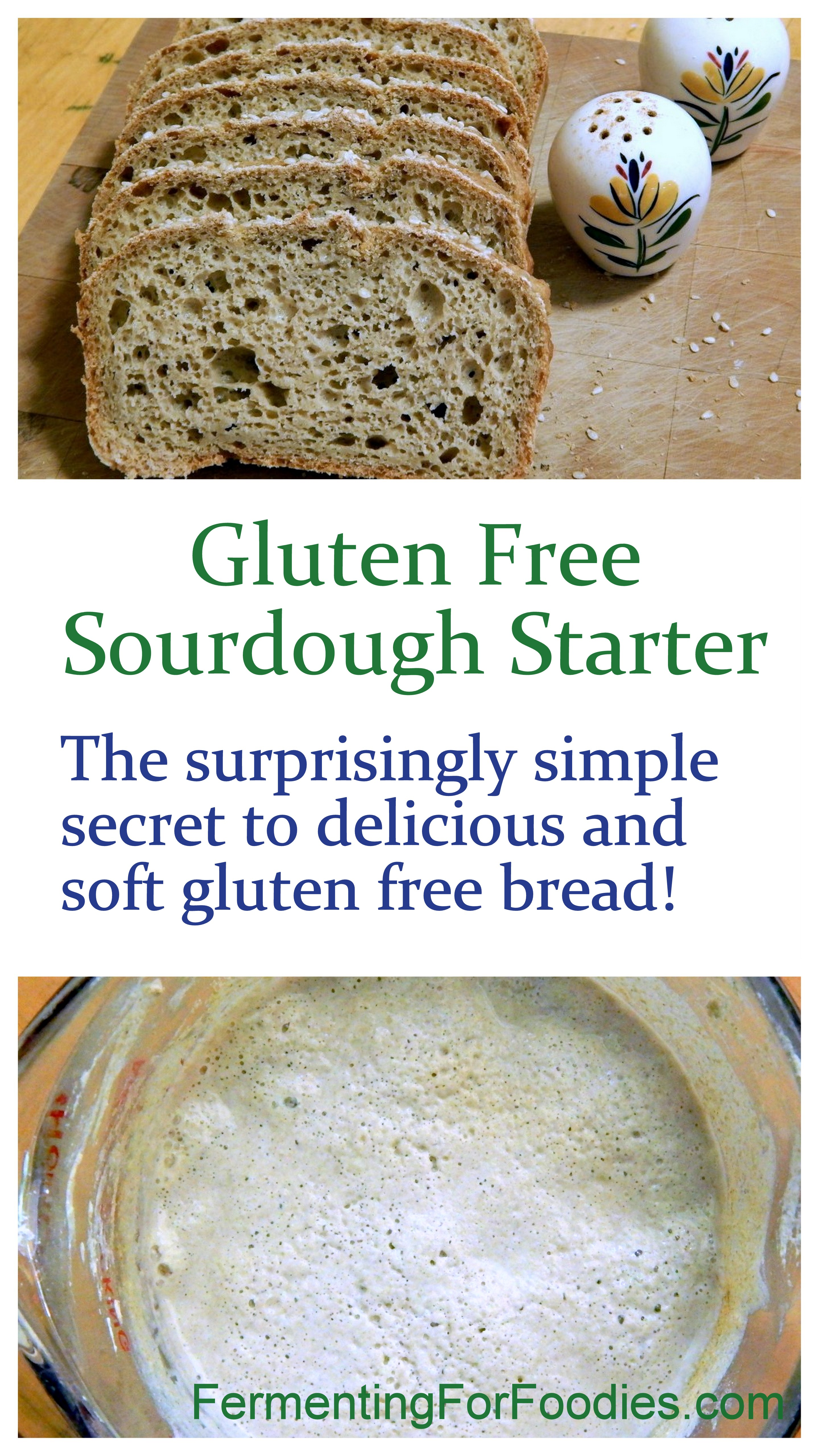 How to use sourdough starter to make delicious gluten free bread.
