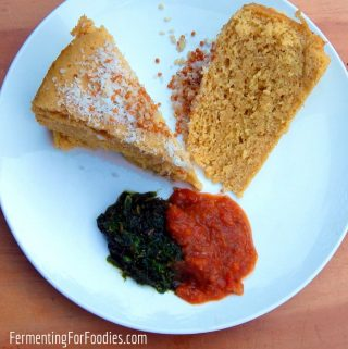 Fermented khaman dholka - Indian steamed chickpea bread