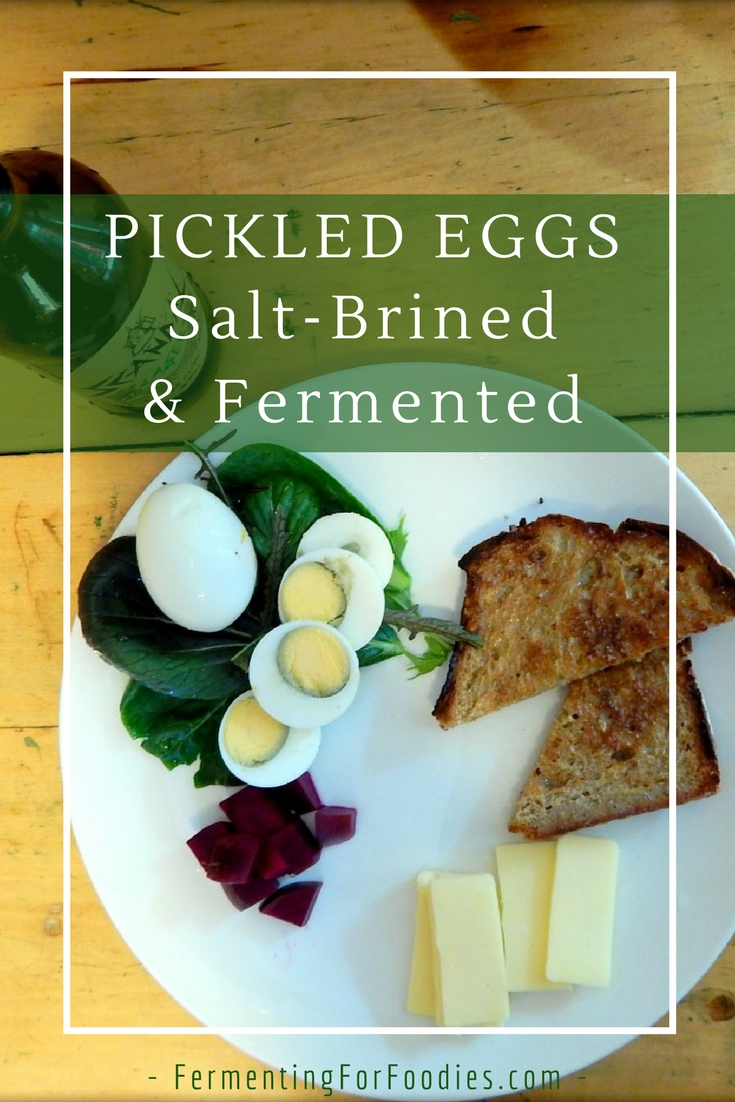 Salt Brined, fermented eggs. The perfect snack food.