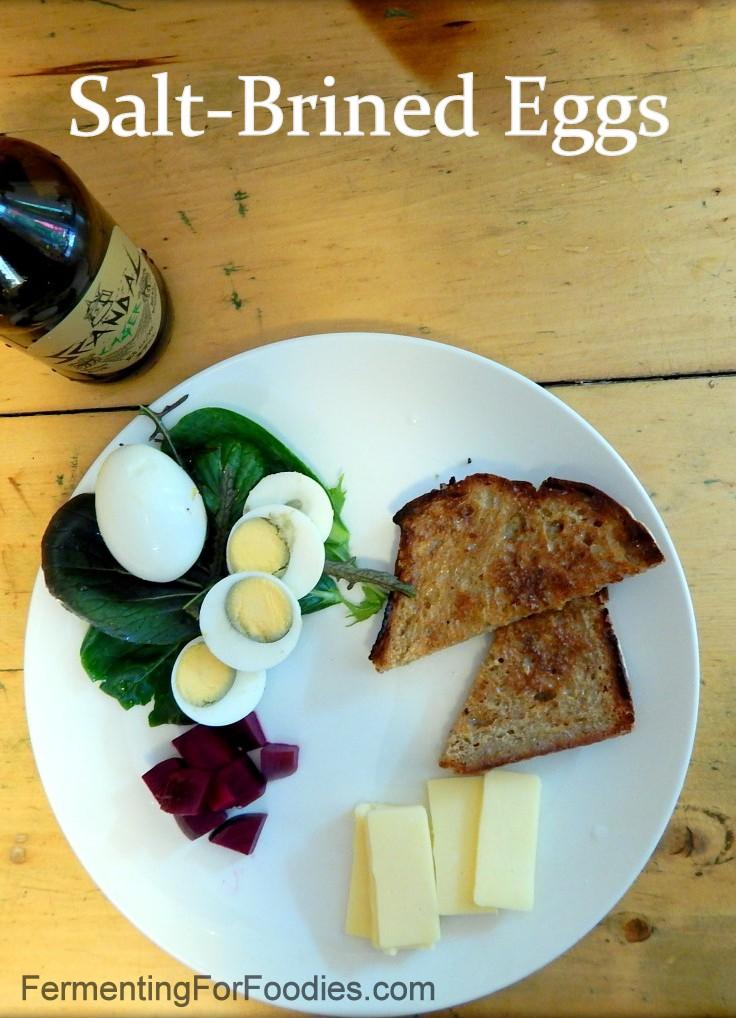 Salt Brined Fermented Pickled Eggs