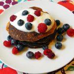 Stack of buckwheat groat pancakes.