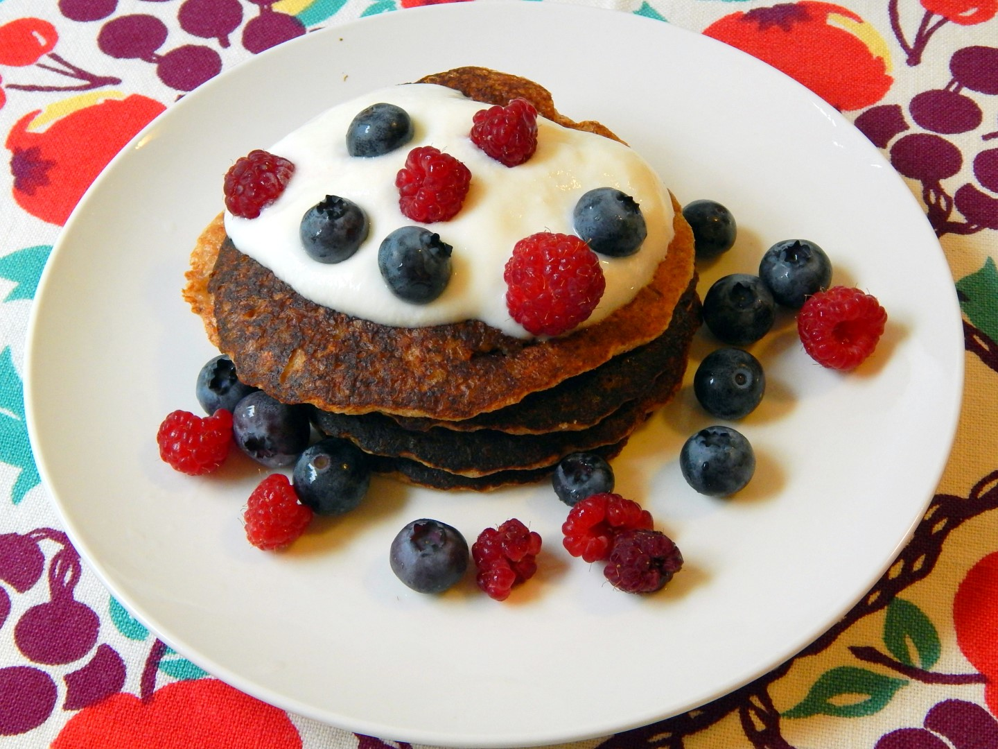 Stack of buckwheat groat pancakes.