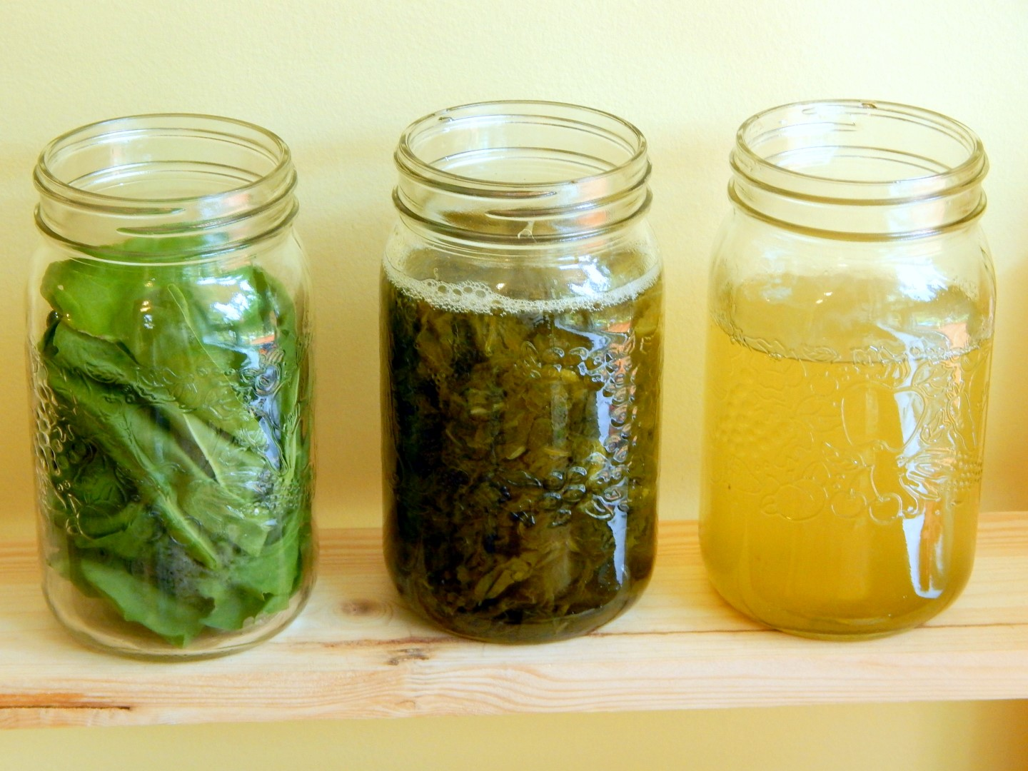 Stages in producing herbal elixirs