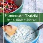 Probiotic tzatziki with milk kefir or yogurt