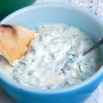 Probiotic tzatziki with milk kefir or yogurt