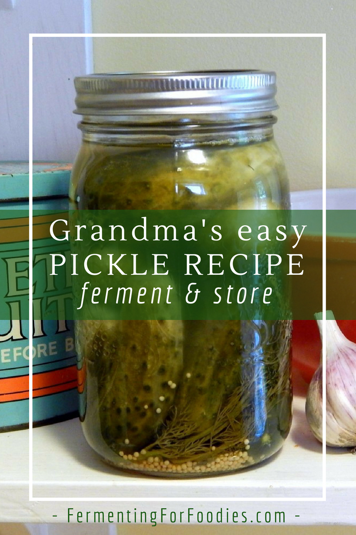 The easiest way to make pickles - fermented, probiotic and delicious