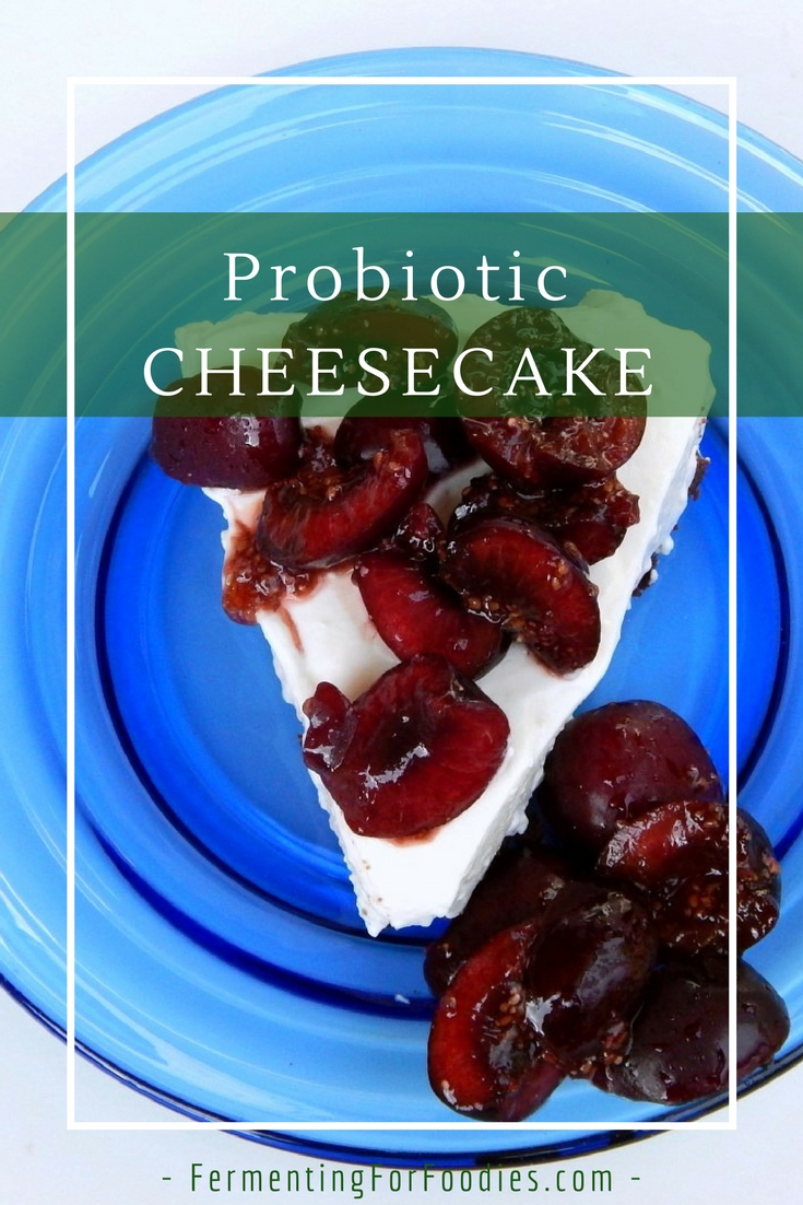 Probiotic Uncooked Cheesecake, gluten free, sugar free