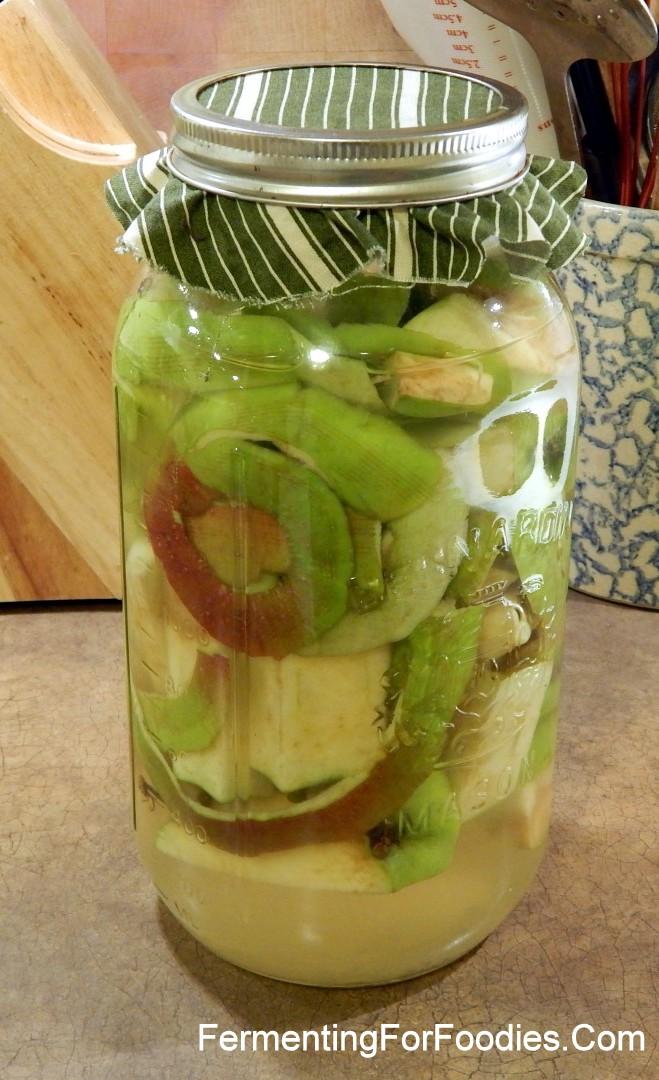 Cider Vinegar make from Apple Scraps