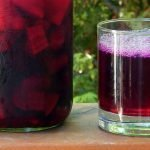Immune boosting kvass is made from fermented turmeric, ginger, lemon and beets
