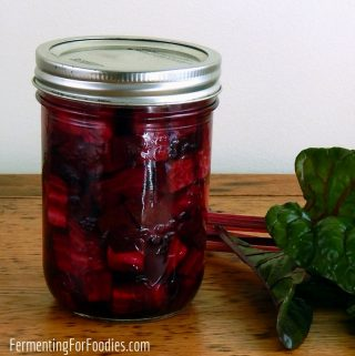 Easy and delicious fermented beet pickles. Perfect with cheese and charcuterie.