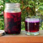 Immune boosting kvass in a mason jar.