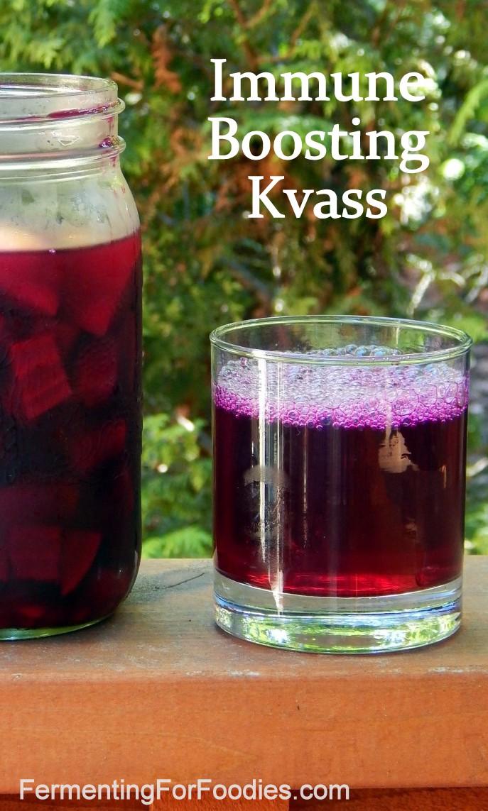 Immune Boosting Kvass with ginger, tumeric and lemon