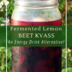 Immune boosting kvass - a fermented tonic with turmeric, ginger and lemon