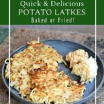 How to make latkes with sauerkraut for flavor.