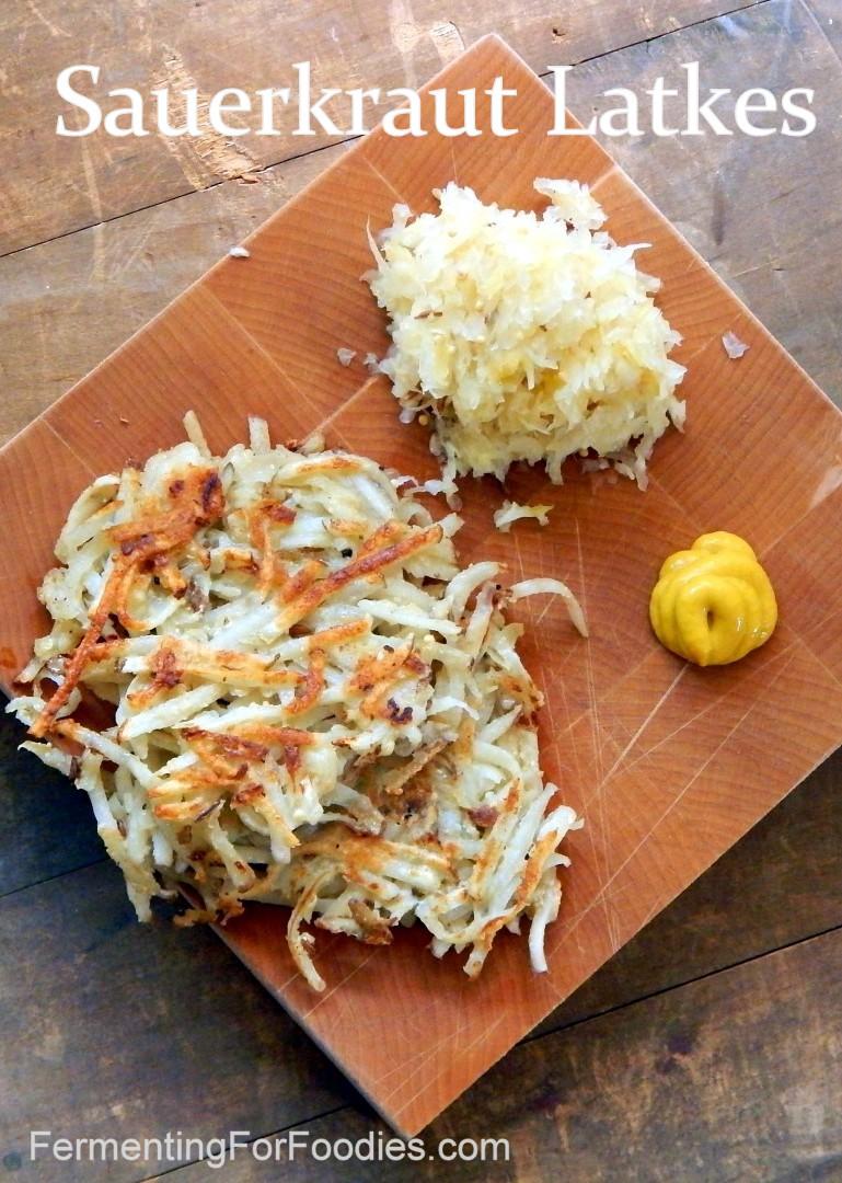 Sauerkraut Latkes with Mustard