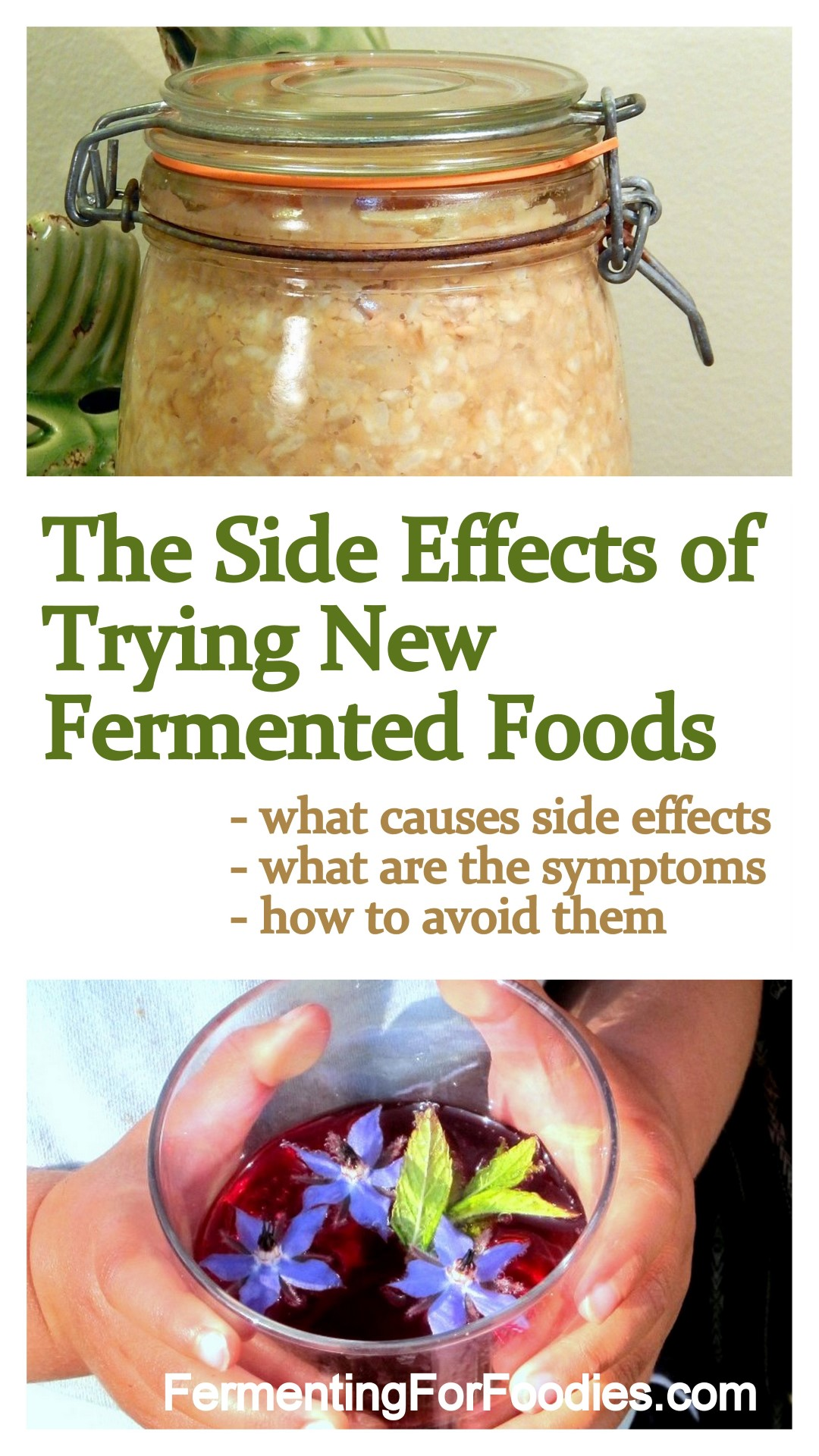 Fermented foods can cause gas, bloating, nausea. Find out why!