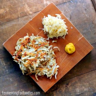 Easy sauerkraut latkes are gluten free and delicious